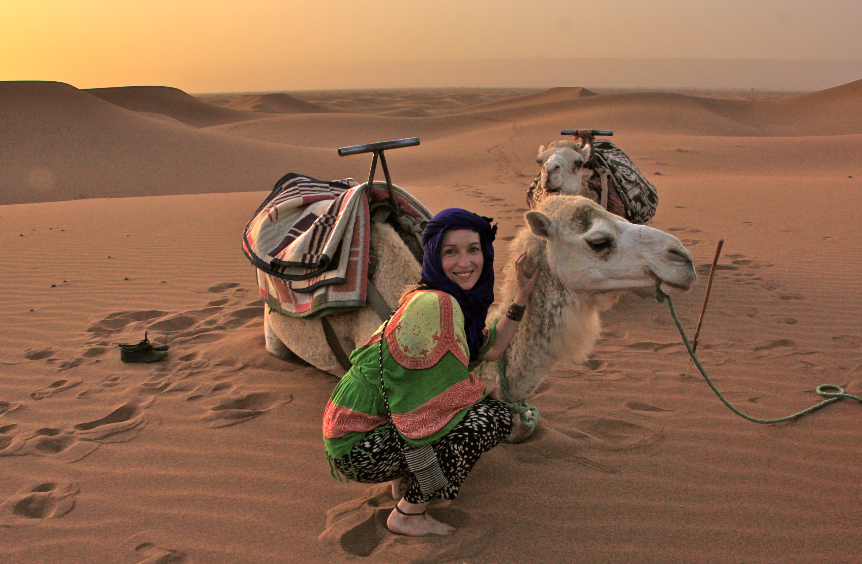 Marokko kameliratsastus