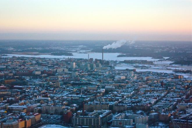 Helsinki helikopterin kyydistä